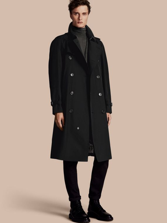 The Westminster – Langer Heritage-Trenchcoat Schwarz