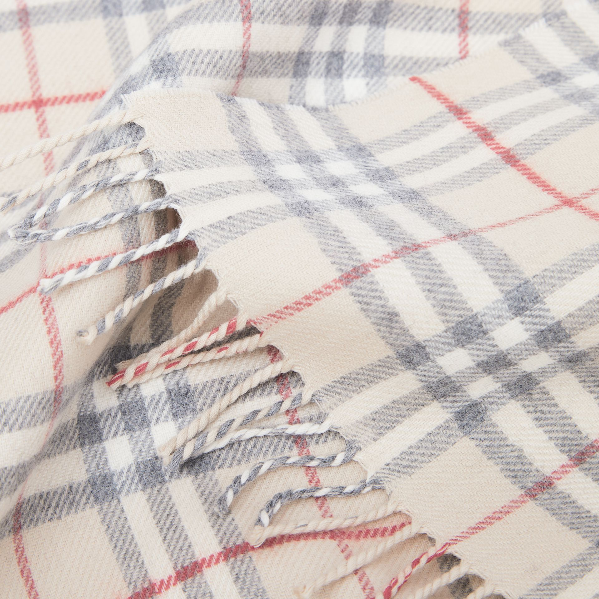 Vintage Check Wool Flannel Baby Blanket in Pale Stone - Children | Burberry - gallery image 1