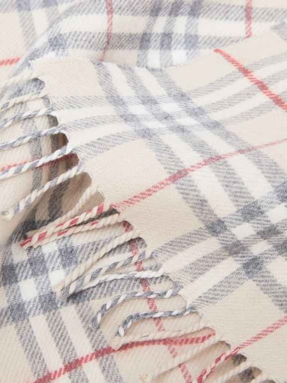 Vintage Check Wool Flannel Baby Blanket in Pale Stone - Children | Burberry - cell image 1