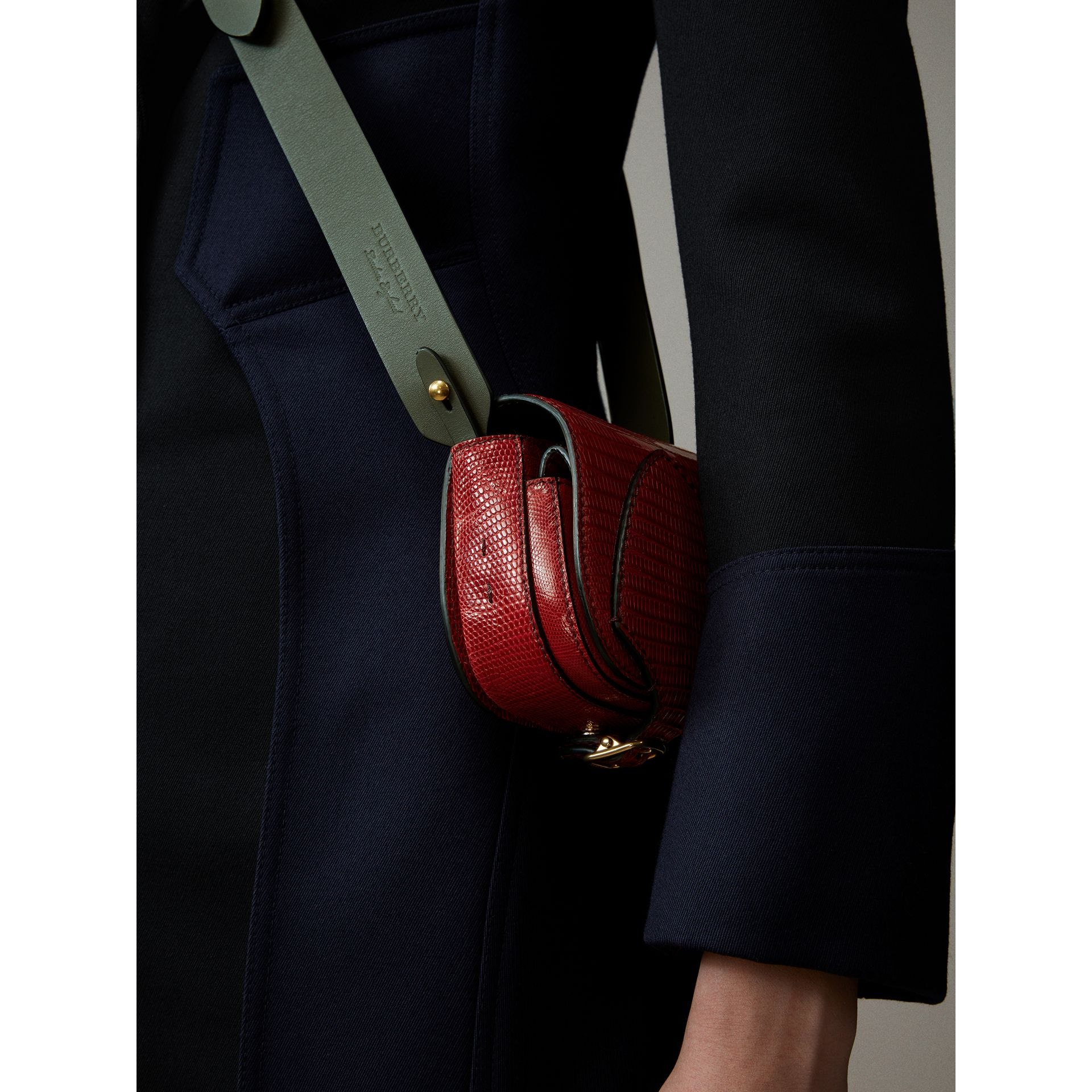 The Pocket Satchel in Lizard in Clove Red - Women | Burberry United Kingdom - gallery image 2