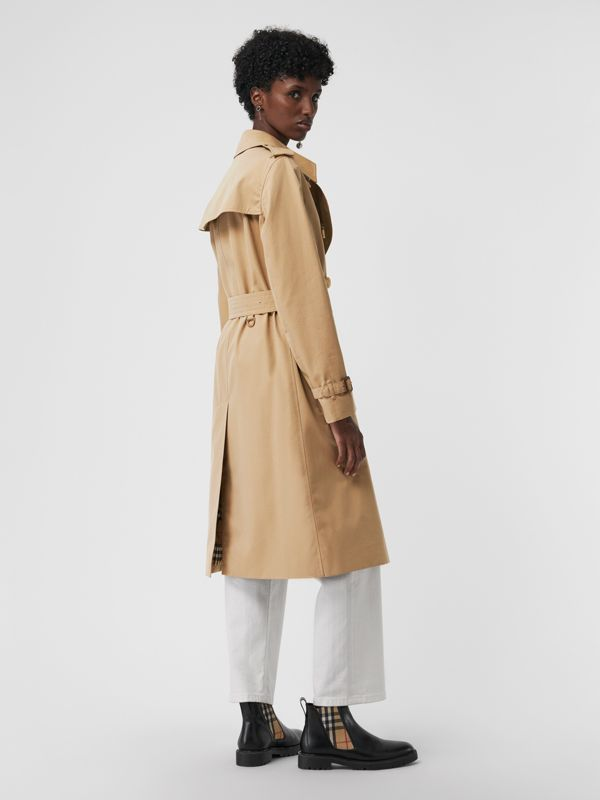 The Long Kensington Heritage Trench Coat in Honey - Women | Burberry United States - cell image 2