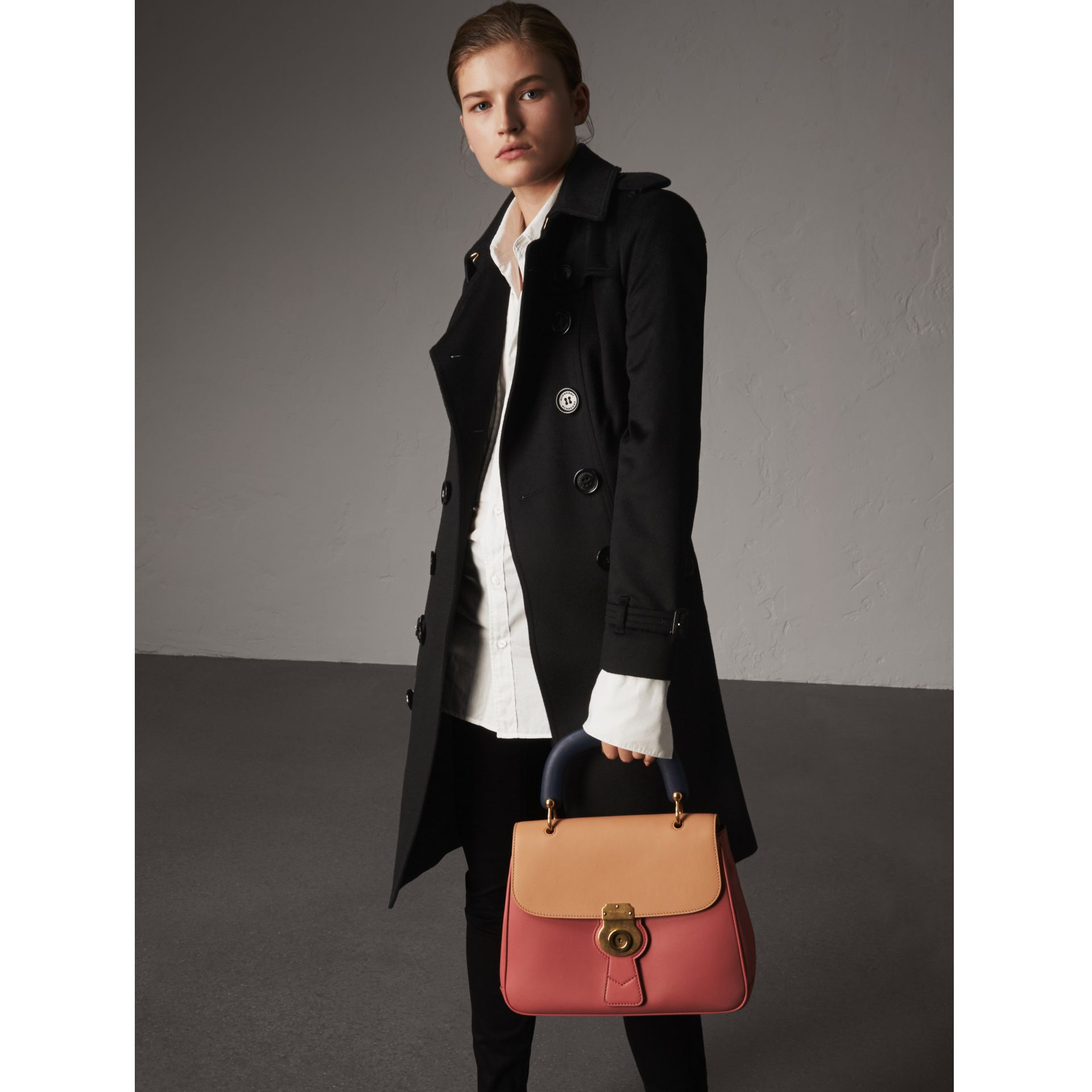 Sandringham Fit Cashmere Trench Coat in Black - Women | Burberry - gallery image 1