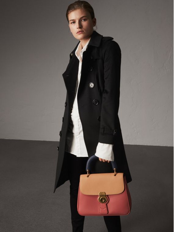 Sandringham Fit Cashmere Trench Coat in Black - Women | Burberry Singapore