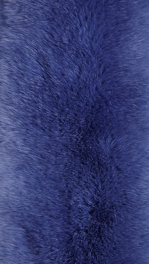 Light steel blue Rabbit Fur Collar - Image 3