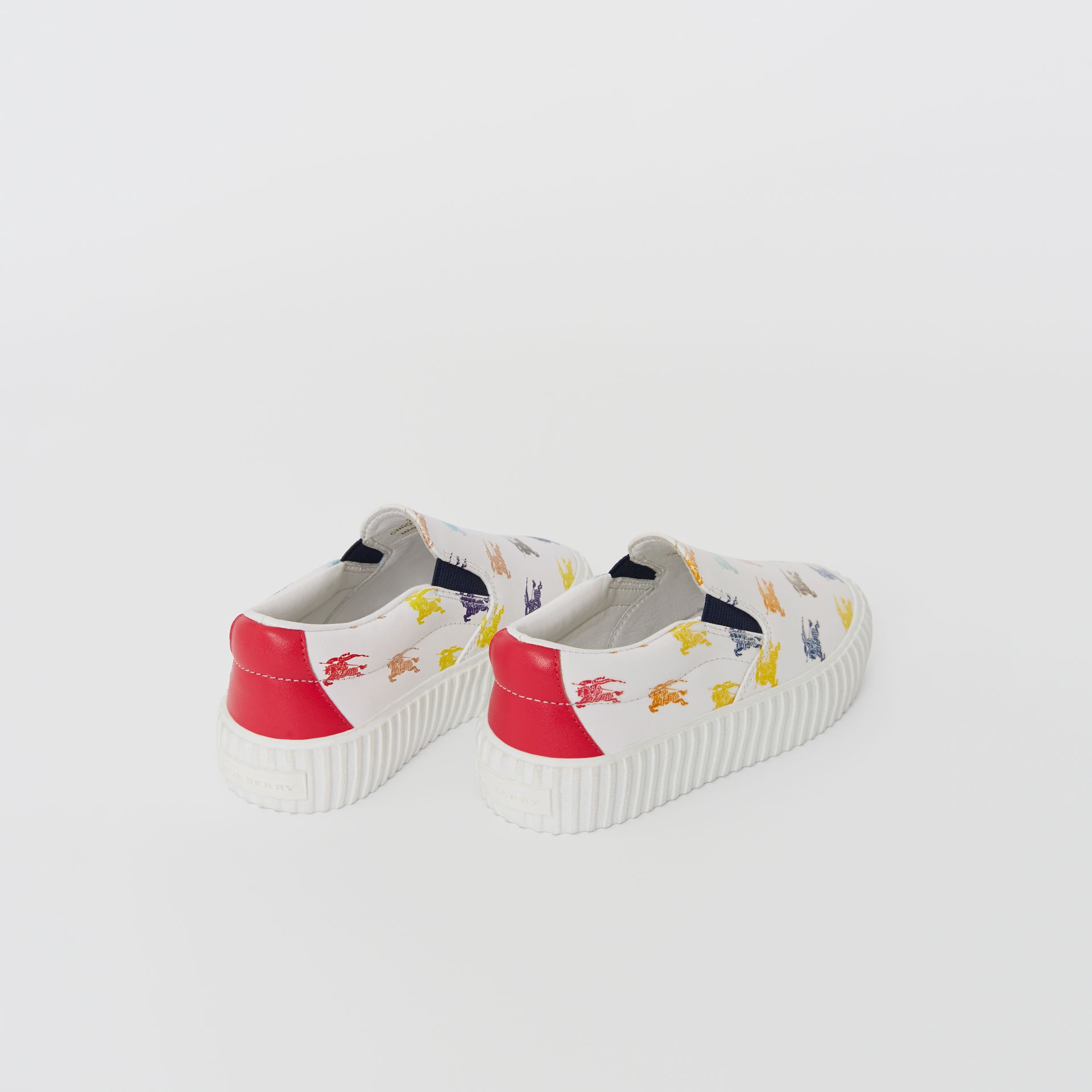 EKD Leather Slip-on Sneakers in Optic White - Children | Burberry - gallery image 2