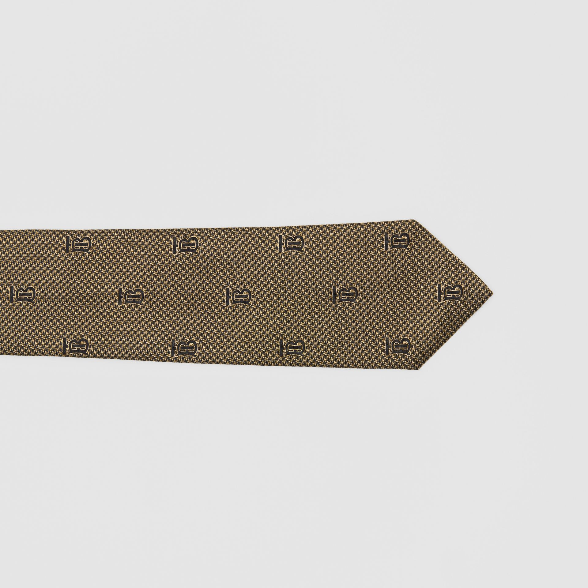 Classic Cut Puppytooth Check Silk Tie in Dark Sand - Men | Burberry United Kingdom - gallery image 1