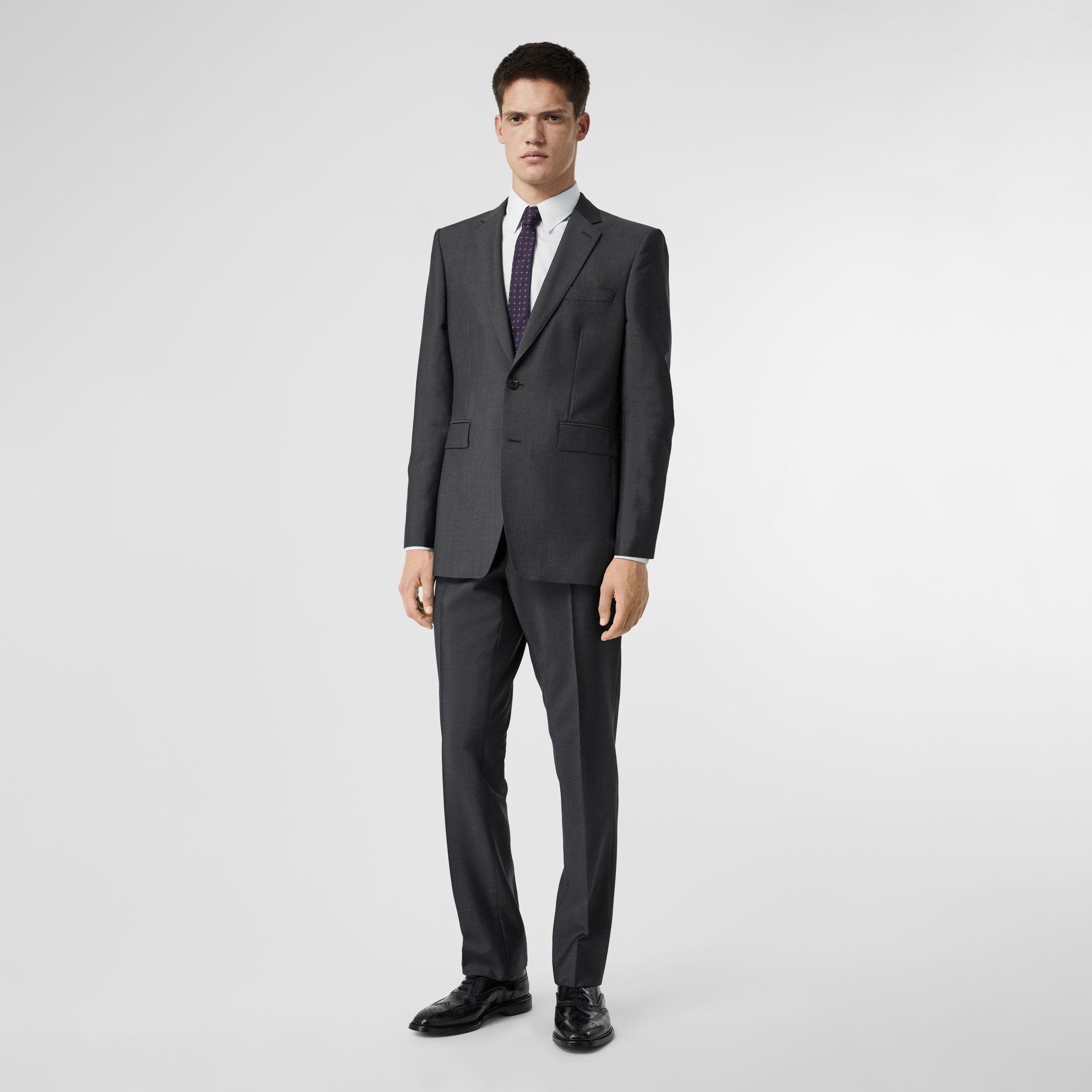 Classic Fit Wool Mohair Suit in Dark Grey - Men | Burberry - gallery image 0