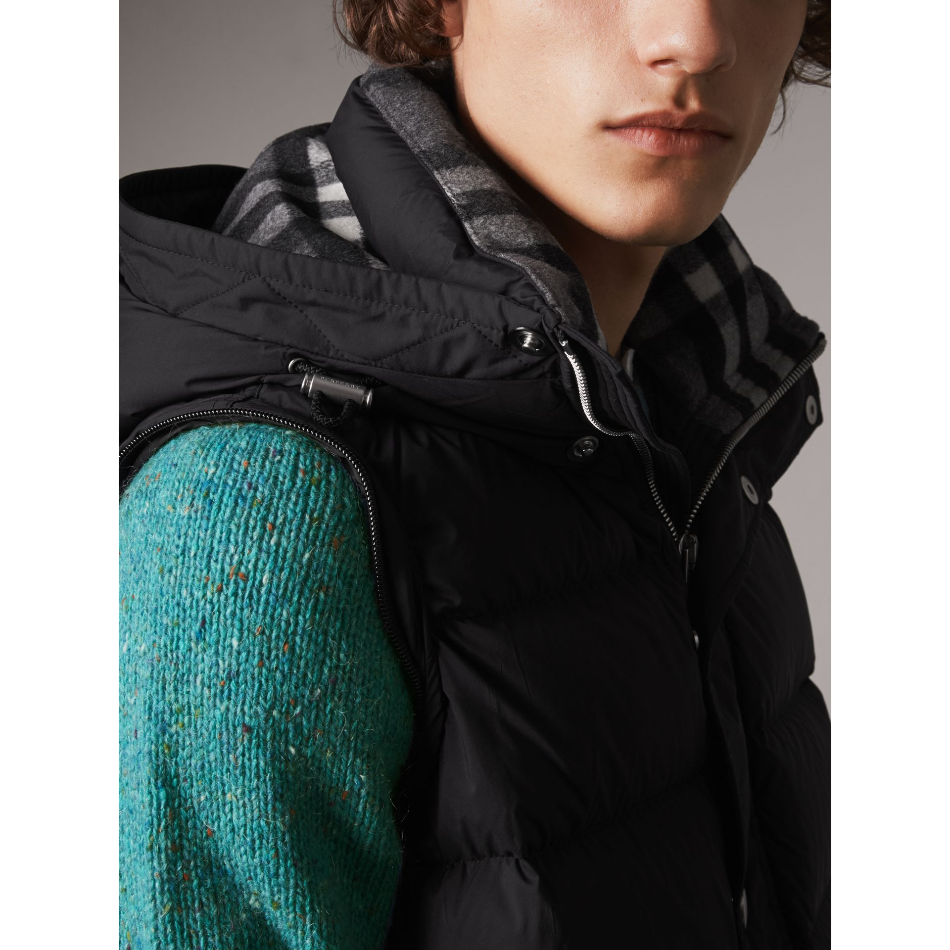 Detachable-sleeve Down-filled Puffer Jacket in Black - Men | Burberry - gallery image 4
