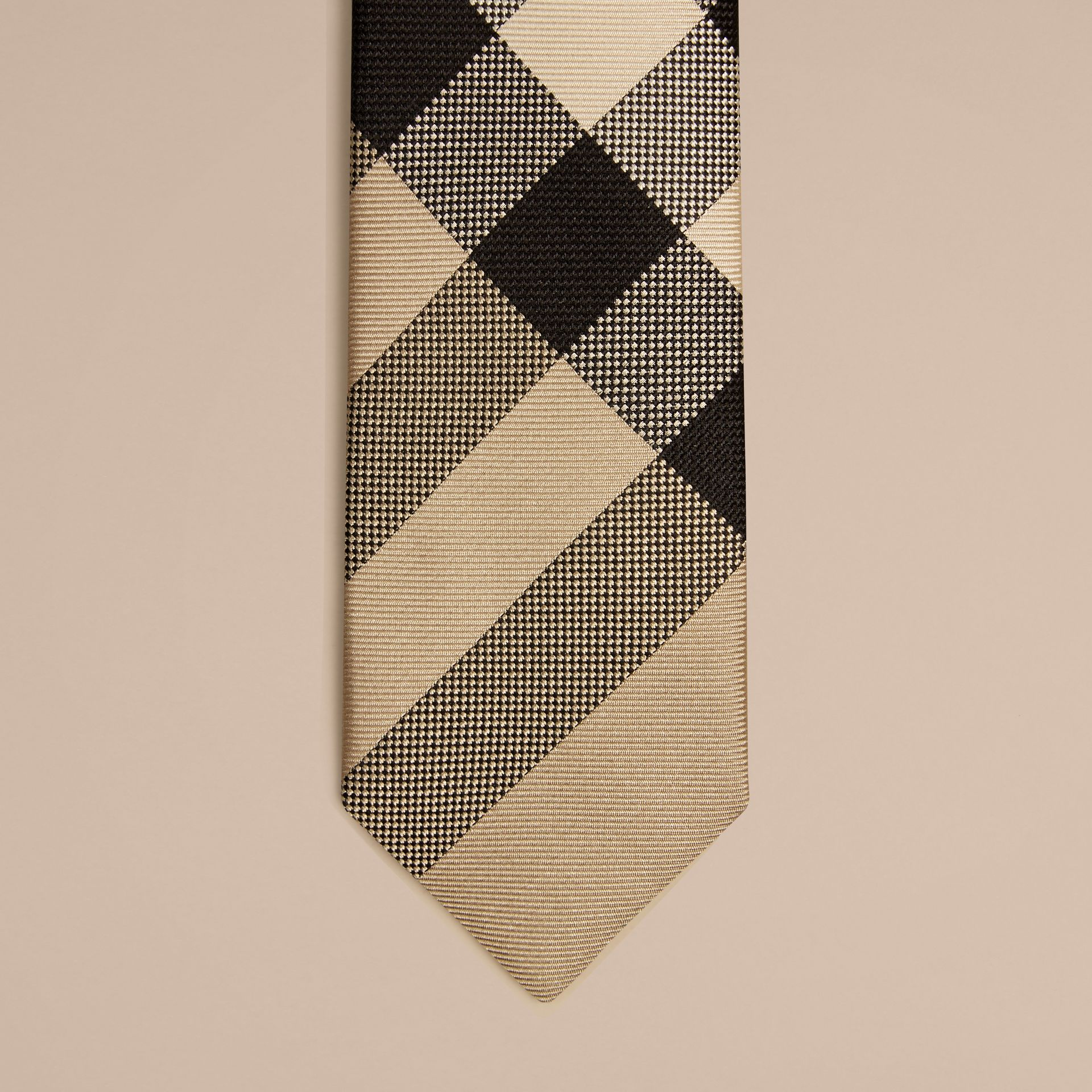 Modern Cut Check Silk Tie in New Classic - Boy | Burberry - gallery image 2