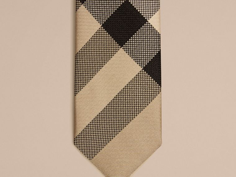 Modern Cut Check Silk Tie in New Classic - Boy | Burberry - cell image 1