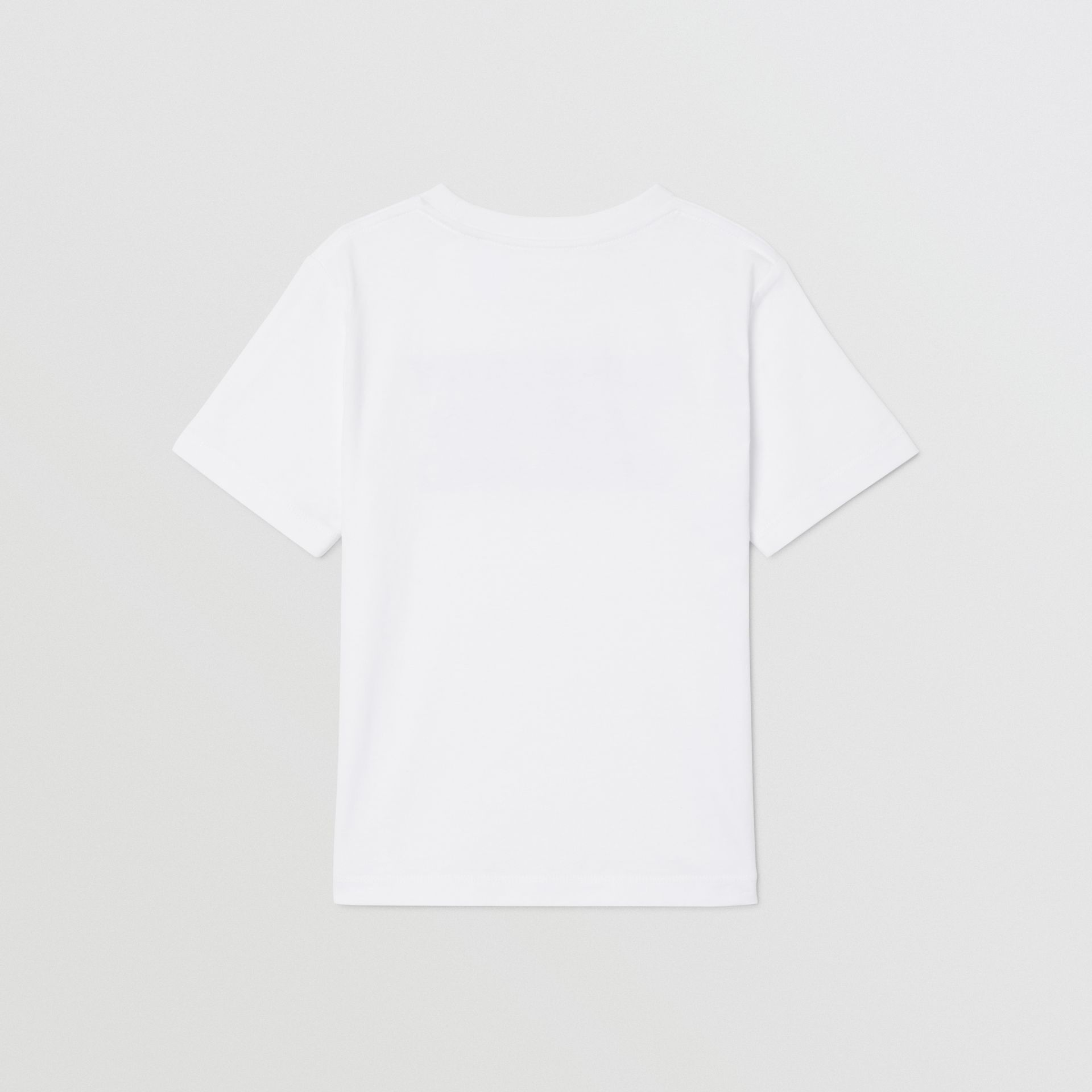 Logo Print Cotton T-shirt in White | Burberry - gallery image 2