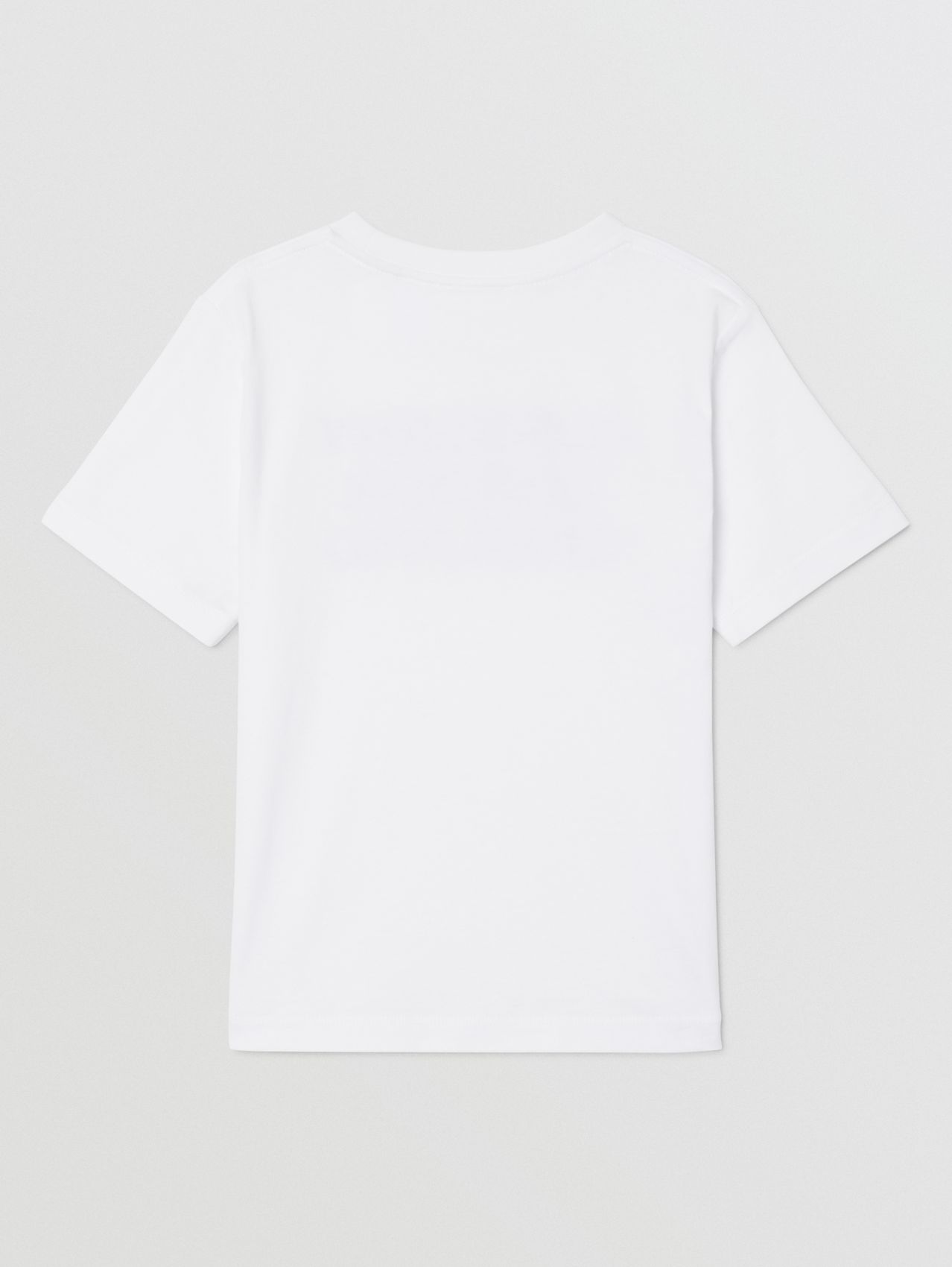 Logo Print Cotton T-shirt (White)