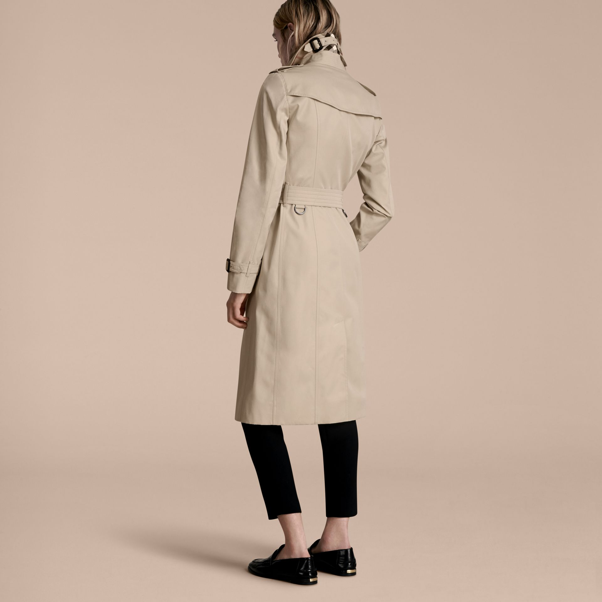 Stone The Sandringham – Extra-long Heritage Trench Coat Stone - gallery image 3