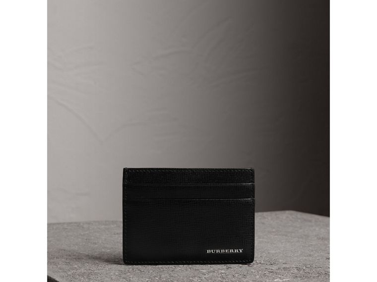 London Leather Card Case in Black | Burberry Hong Kong - cell image 4
