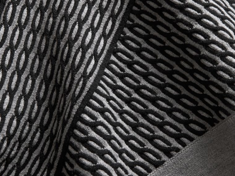 Cable Knit Wool Blend One-shoulder Sweater - Women | Burberry - cell image 1
