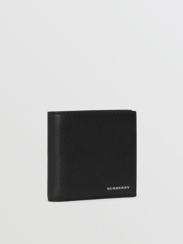 Grainy Leather International Bifold Wallet in Black - Men | Burberry Canada - cell image 3