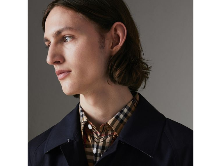 The Camden Car Coat in Blue Carbon - Men | Burberry - cell image 4