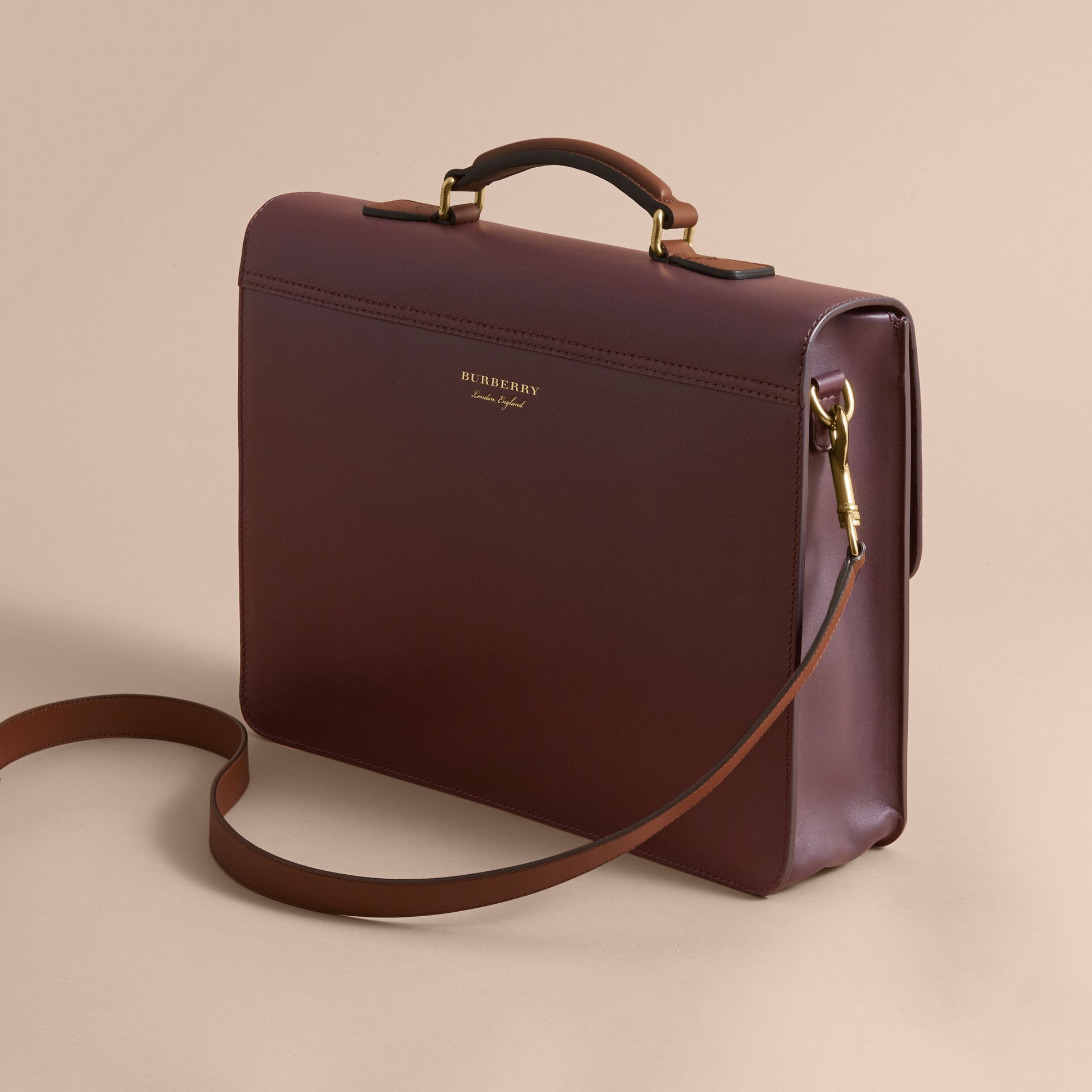 The Medium DK88 Satchel in Wine - Men | Burberry Singapore - gallery image 3