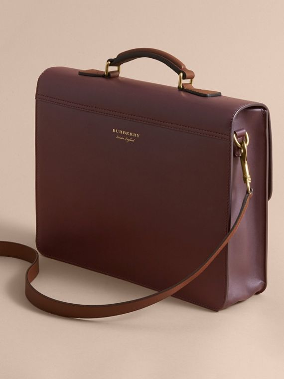The Medium DK88 Satchel in Wine - Men | Burberry Hong Kong - cell image 2