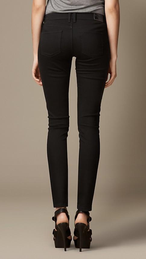 Black Skinny Fit Low-Rise Deep Black Jeans - Image 3