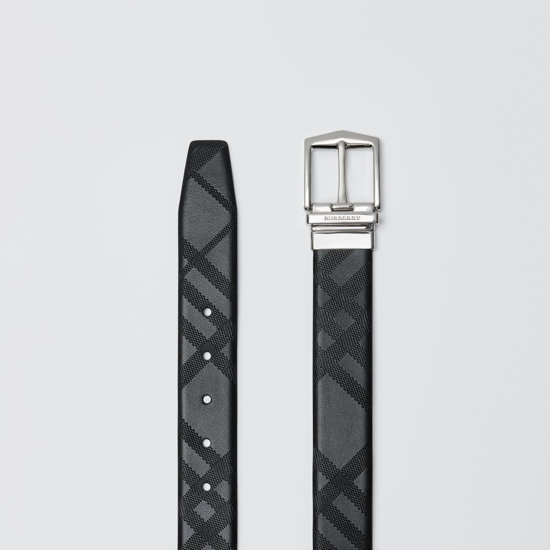 Reversible London Leather Belt in Black - Men | Burberry - gallery image 6