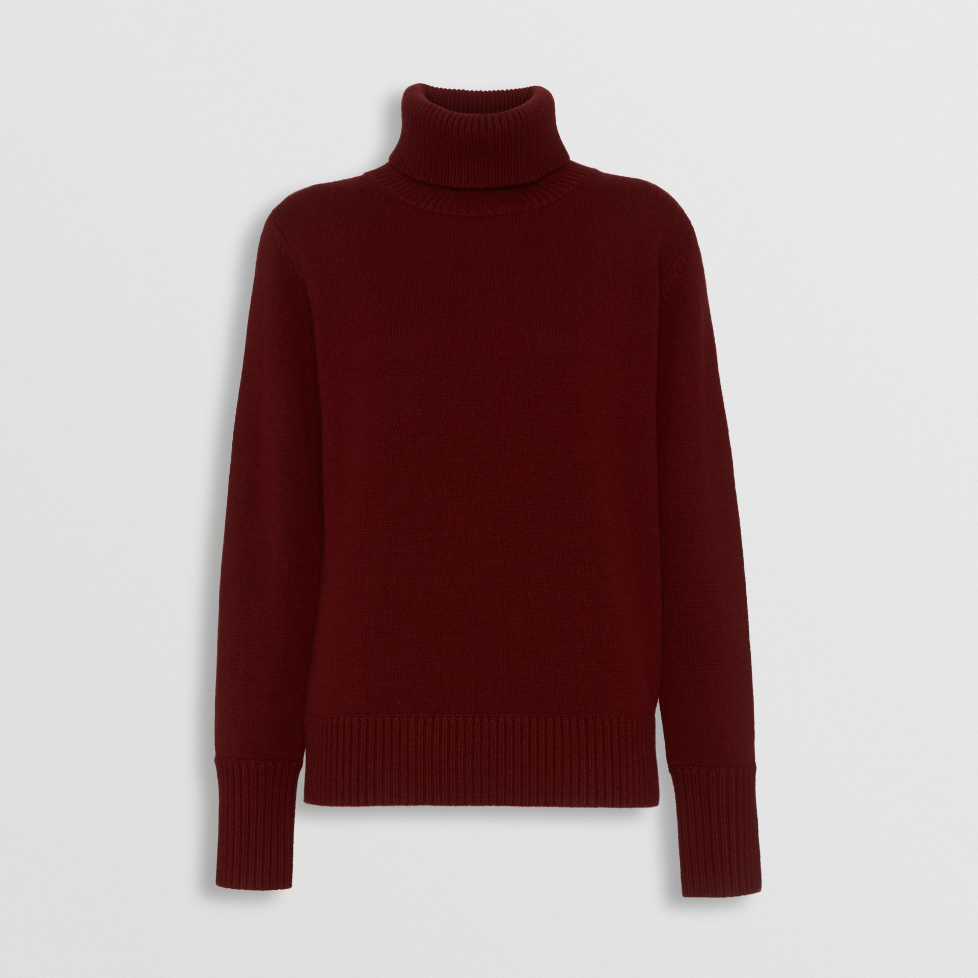 Embroidered Crest Cashmere Roll-neck Sweater in Red - Women | Burberry - gallery image 3