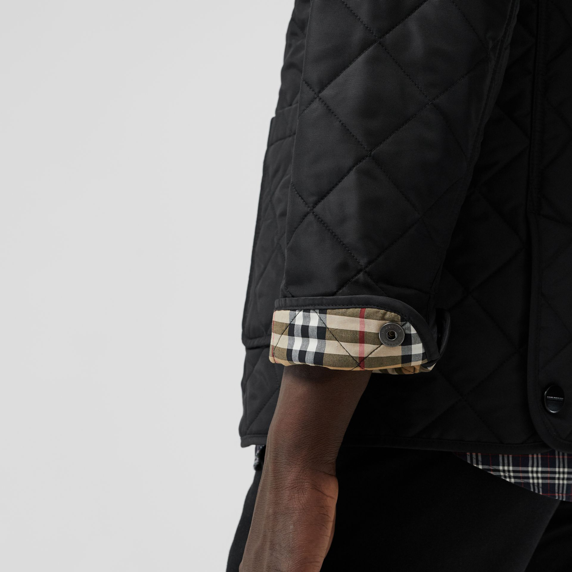 Diamond Quilted Thermoregulated Blazer in Black - Men | Burberry Australia - gallery image 5