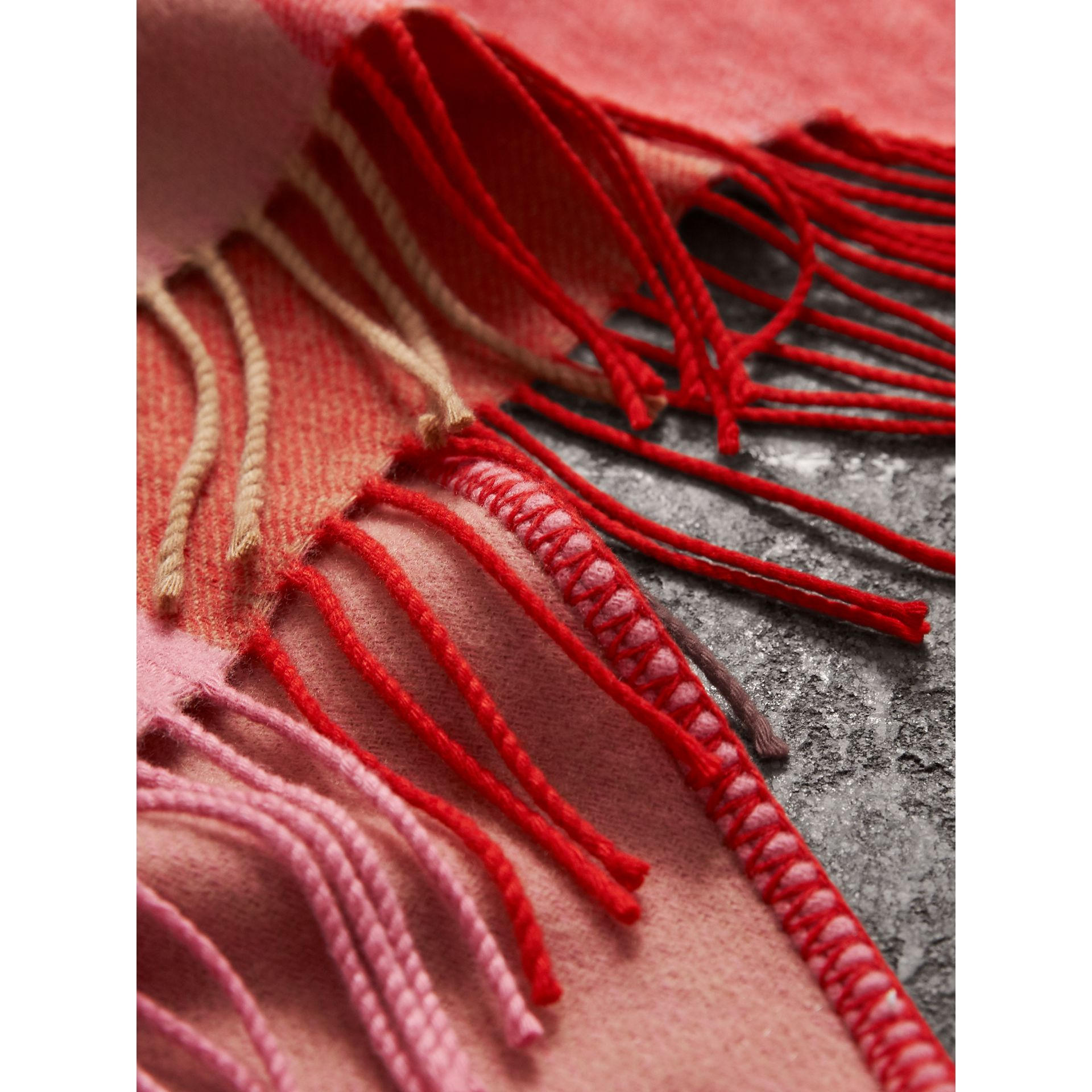 The Burberry Bandana in Striped Cashmere in Rose Pink | Burberry - gallery image 1