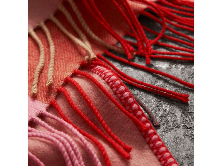 The Burberry Bandana in Striped Cashmere in Rose Pink | Burberry - cell image 1