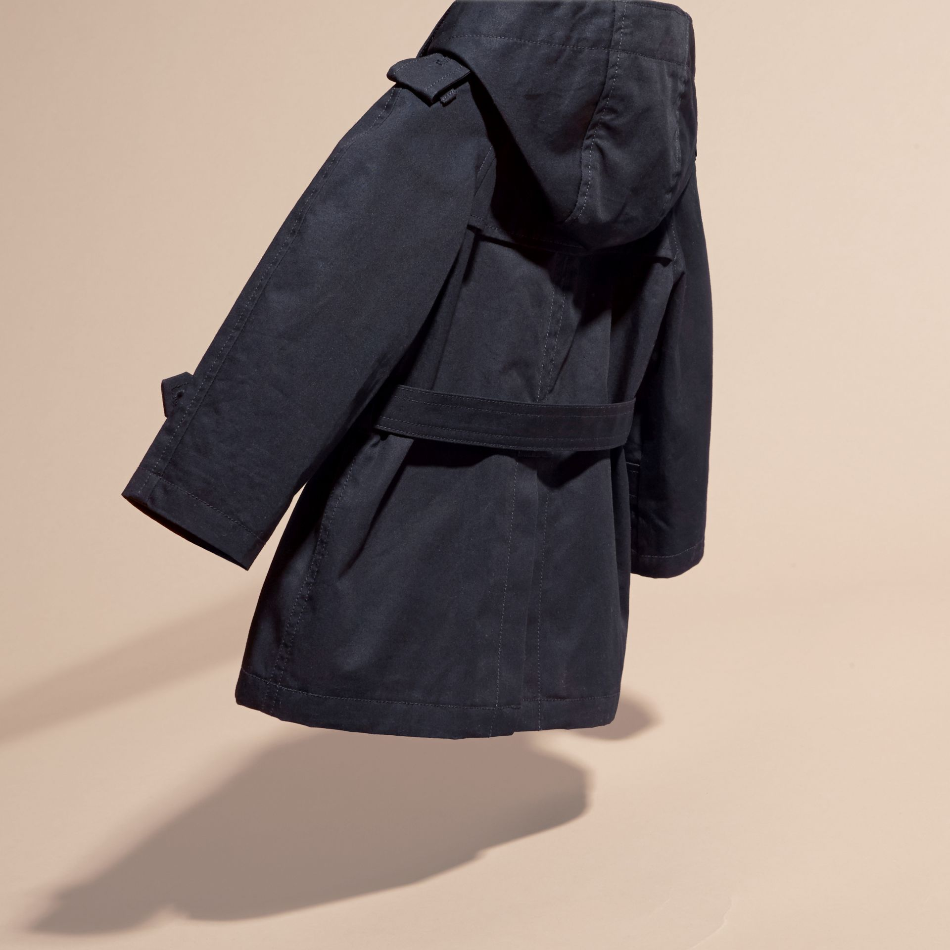 Ink Hooded Cotton Twill Trench Coat - gallery image 4
