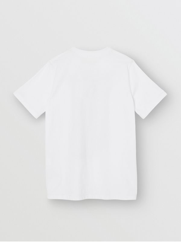 Montage Print Cotton T-shirt in White | Burberry Canada - cell image 3