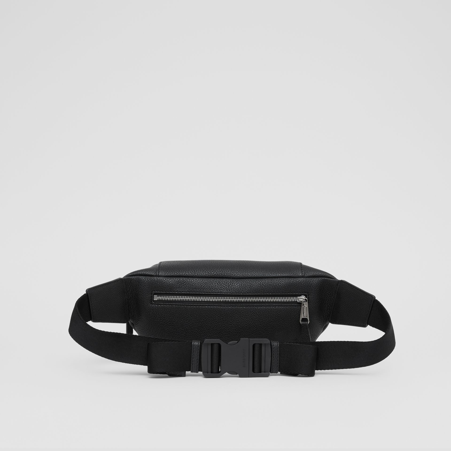 Logo Graphic Grainy Leather Sonny Bum Bag in Black - Men | Burberry United Kingdom - gallery image 5