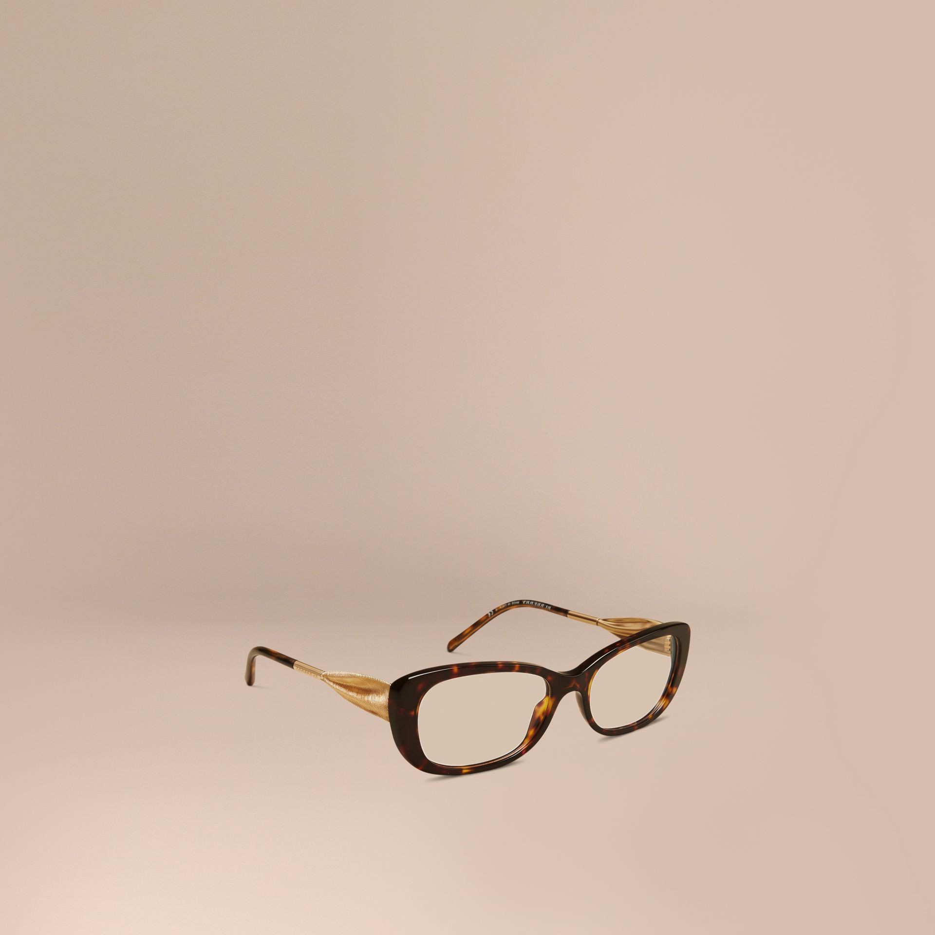 Gabardine Collection Oval Optical Frames Tortoise Shell - gallery image 1