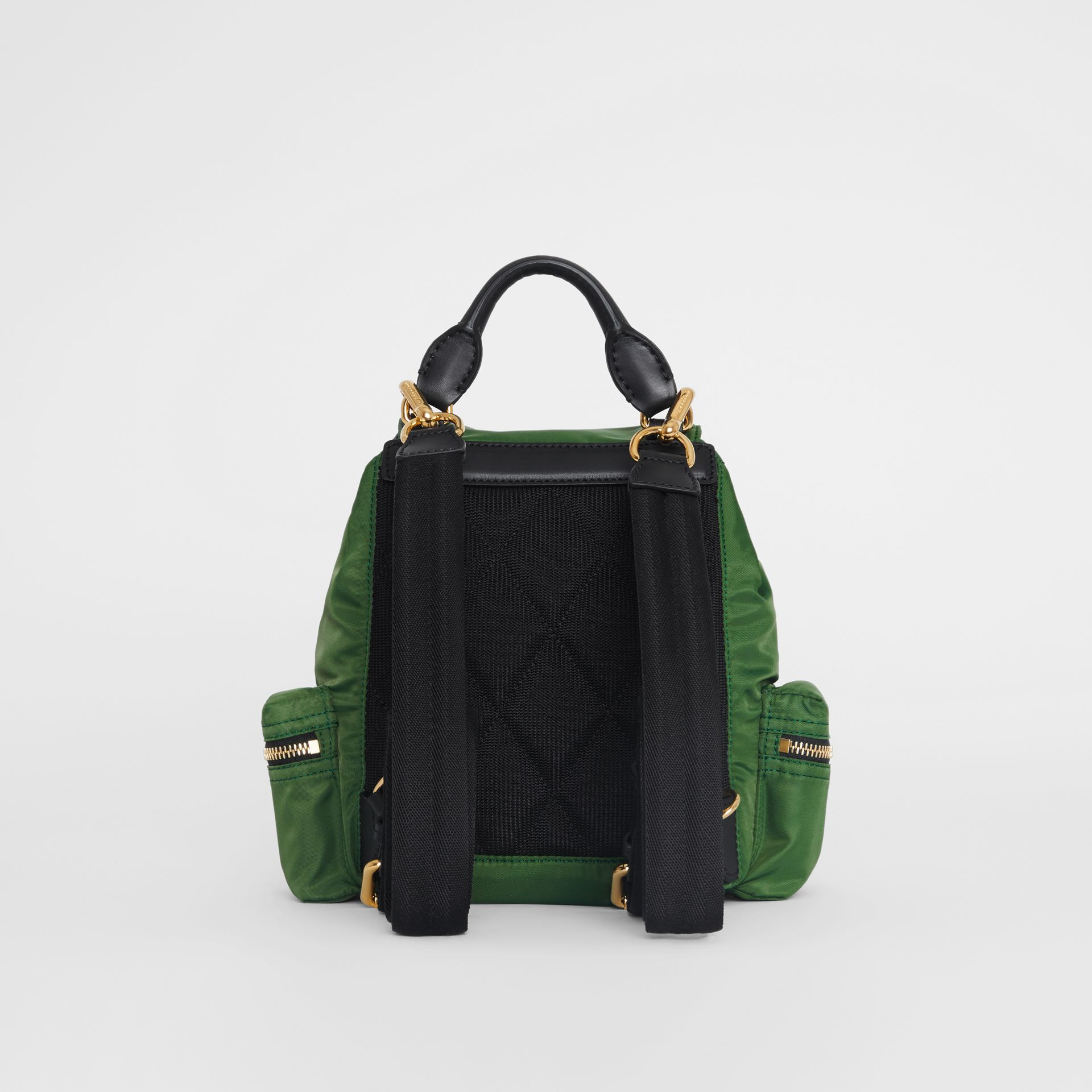 The Small Crossbody Rucksack in Nylon in Racing Green - Women | Burberry - gallery image 7