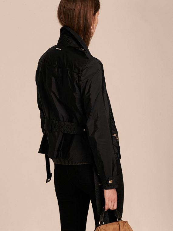 Black Showerproof Technical Biker Jacket - cell image 2