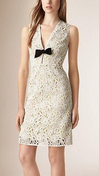 Cotton Lace Macramé Shift Dress