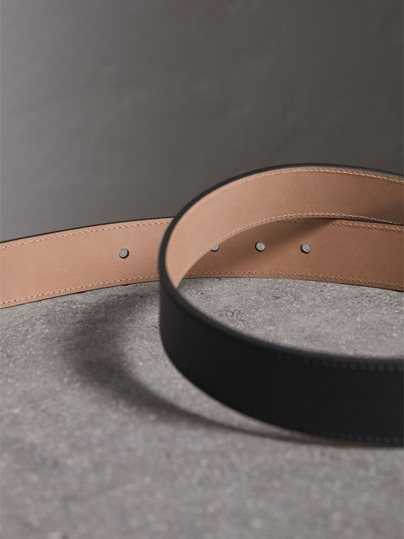 Trench Leather Belt in Black - Men | Burberry Canada - cell image 3