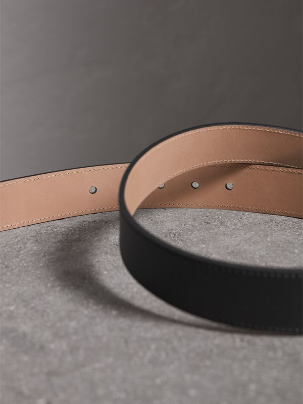 Trench Leather Belt in Black - Men | Burberry - cell image 3