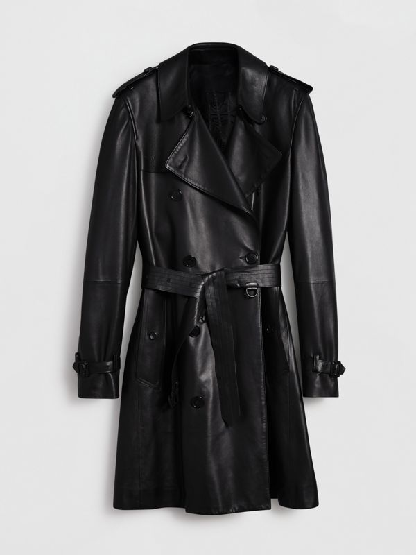 Lambskin Trench Coat in Black - Men | Burberry Hong Kong - cell image 3