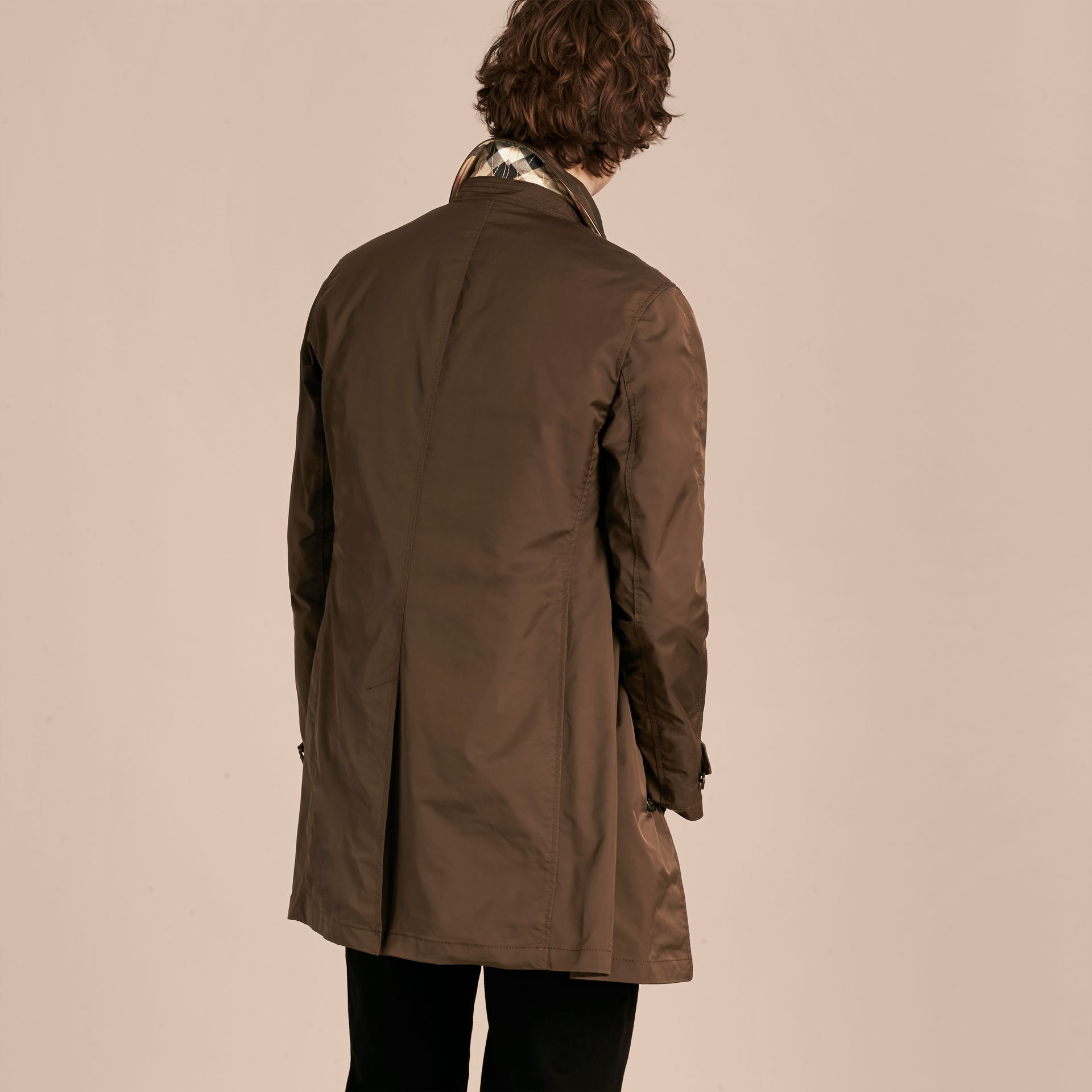 Chocolate Showerproof Car Coat with Detachable Down-filled Warmer Chocolate - gallery image 3