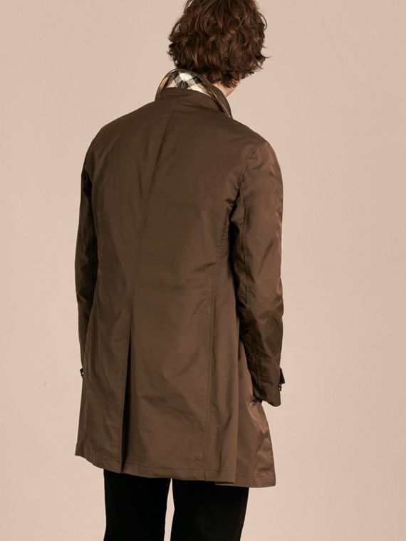 Chocolate Showerproof Car Coat with Detachable Down-filled Warmer Chocolate - cell image 2