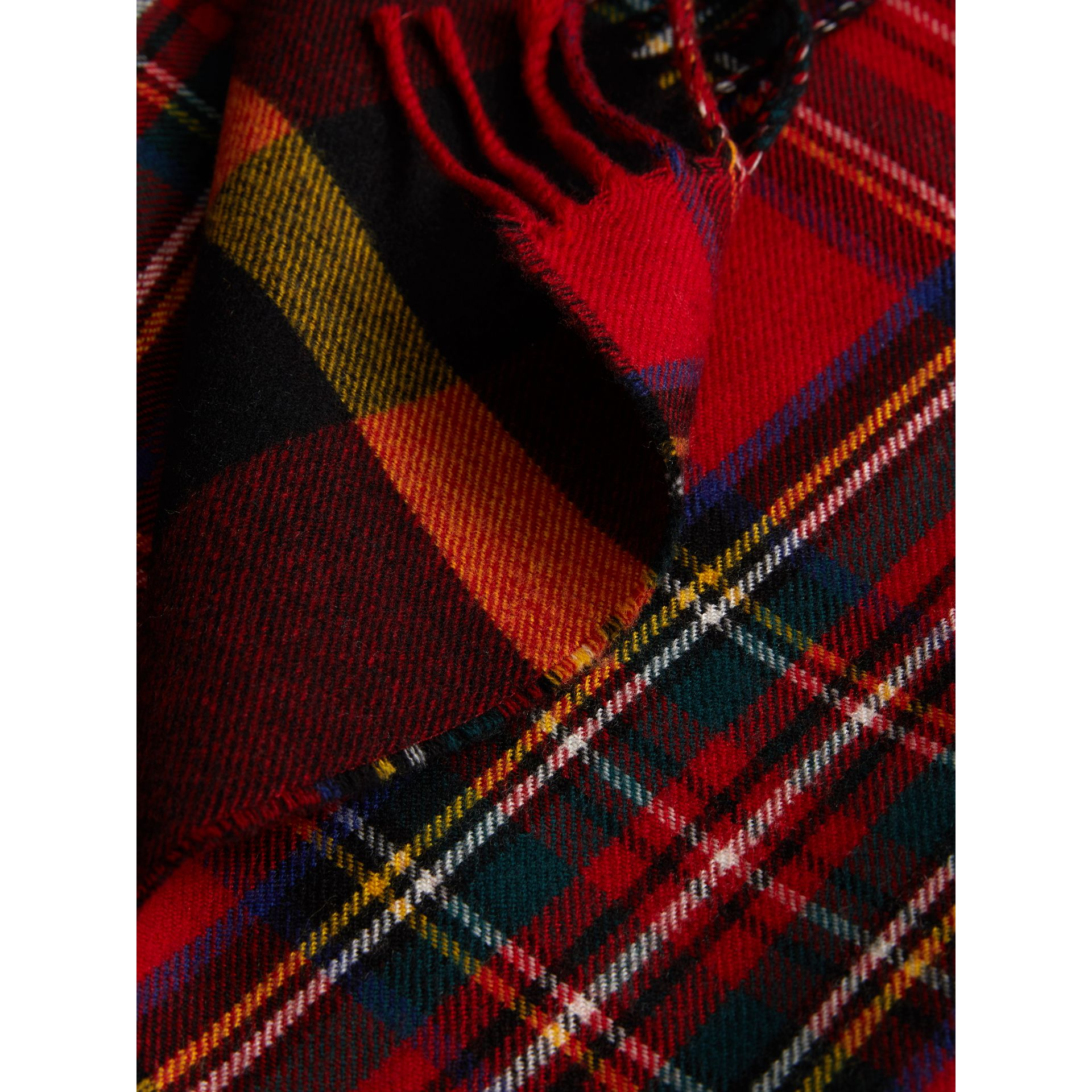 Check Merino Wool Scarf in Bright Red | Burberry - gallery image 1