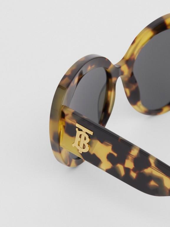 Monogram Motif Cat-eye Frame Sunglasses in Bright Tortoiseshell - Women | Burberry United Kingdom - cell image 1