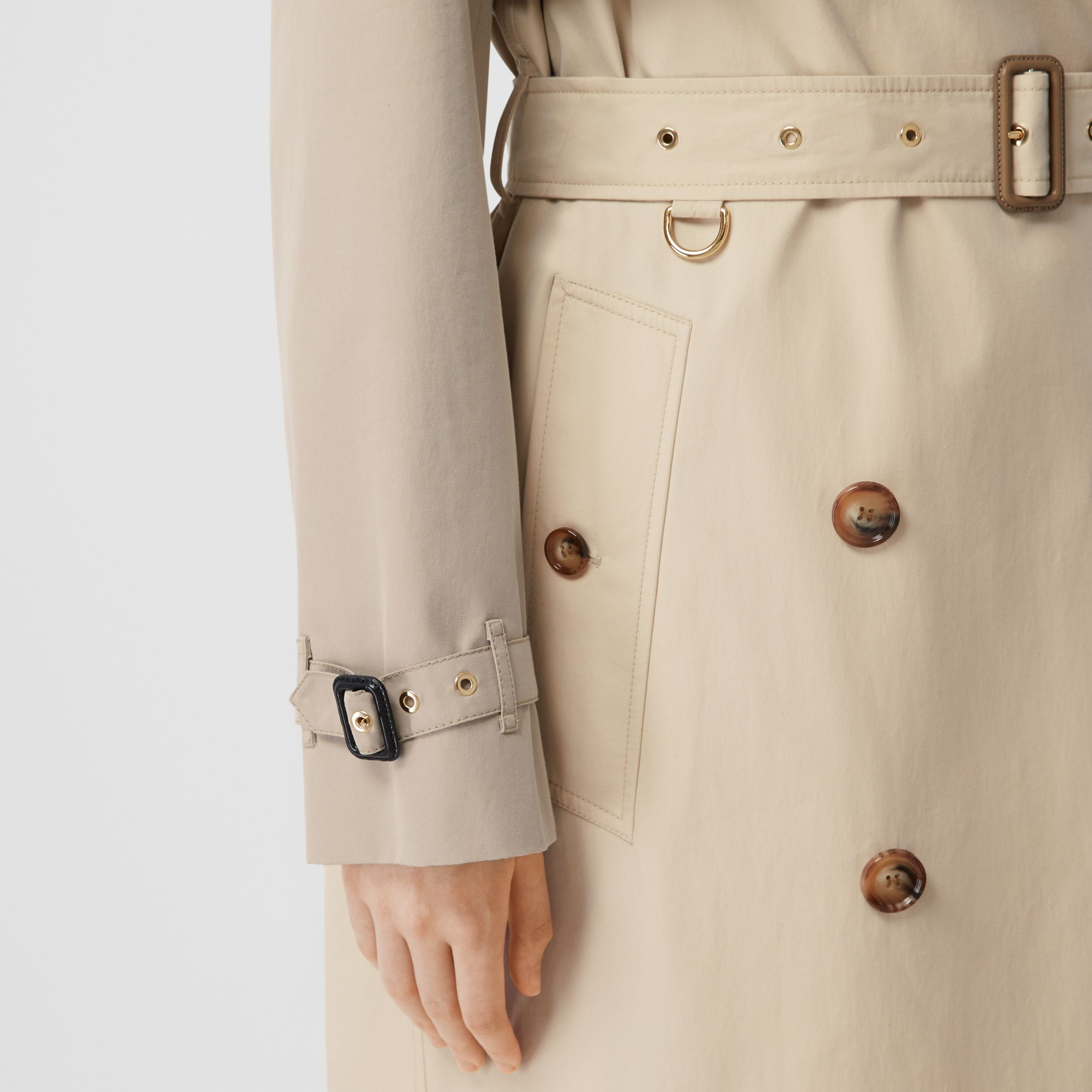 Two-tone Reconstructed Trench Coat in Light Sand - Women | Burberry - 4