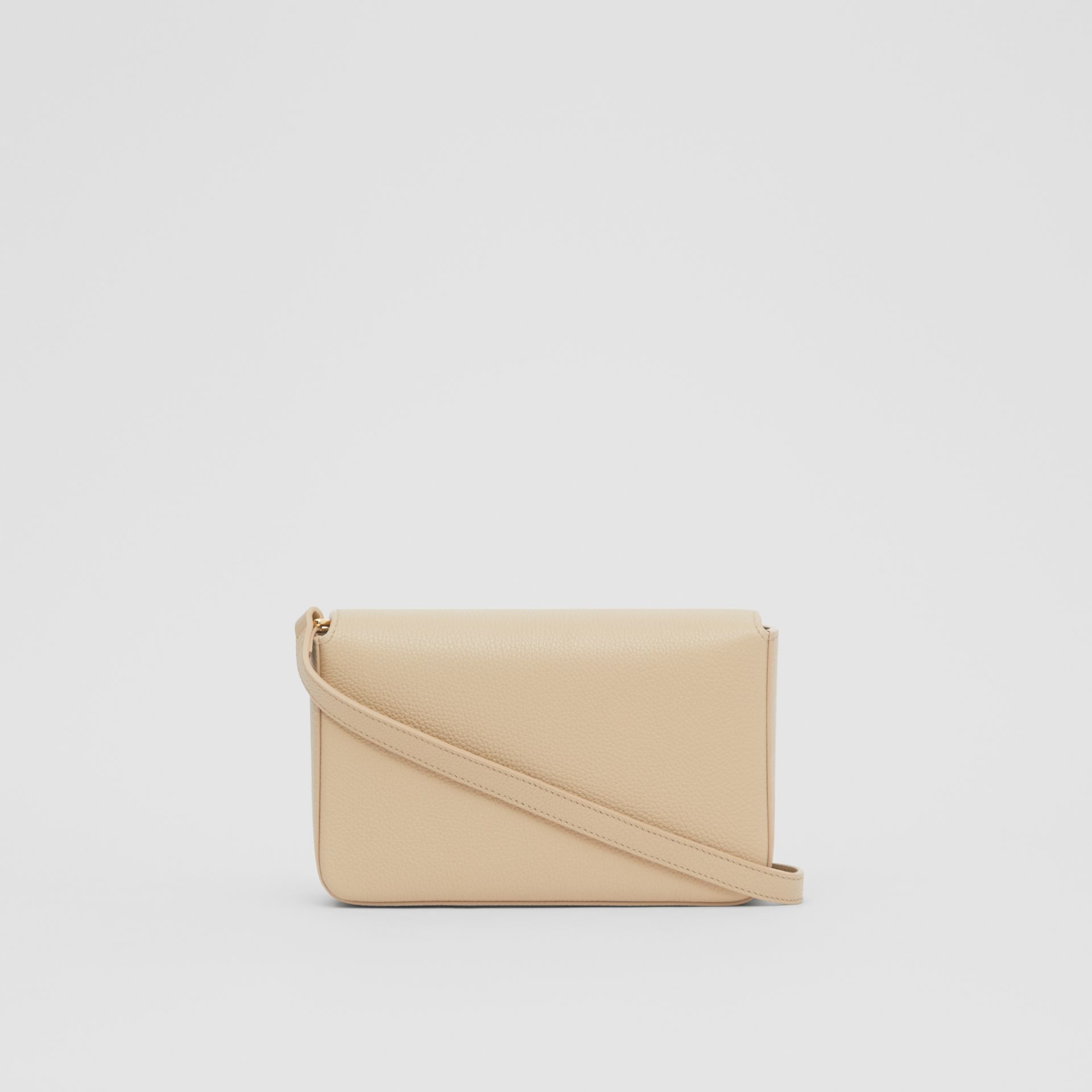 Small Leather and Vintage Check Crossbody Bag in Light Beige - Women | Burberry United Kingdom - gallery image 5