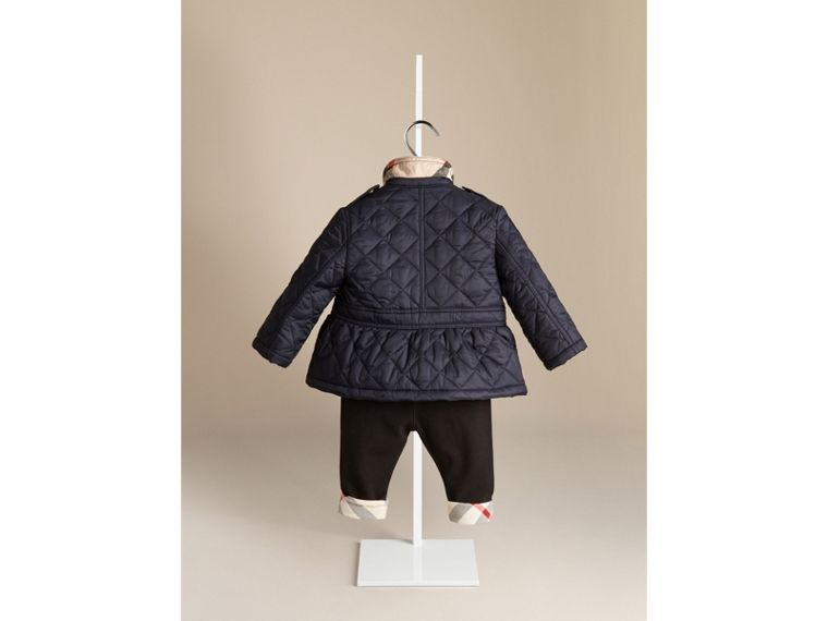 Quilted Peplum Jacket - Girl | Burberry - cell image 1