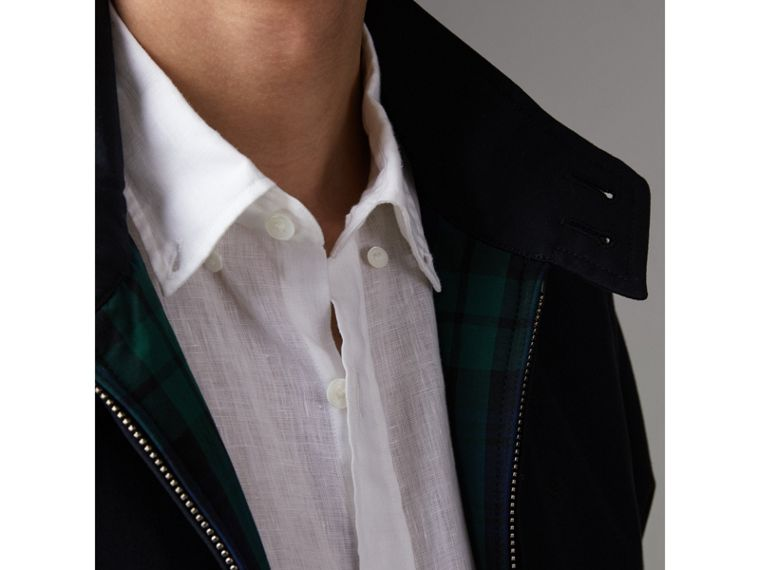 Cotton Gabardine Harrington Jacket in Navy - Men | Burberry - cell image 4