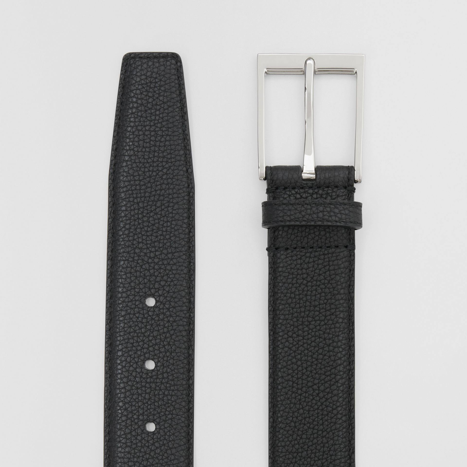 Ceinture en cuir grainé (Noir) | Burberry - photo de la galerie 4