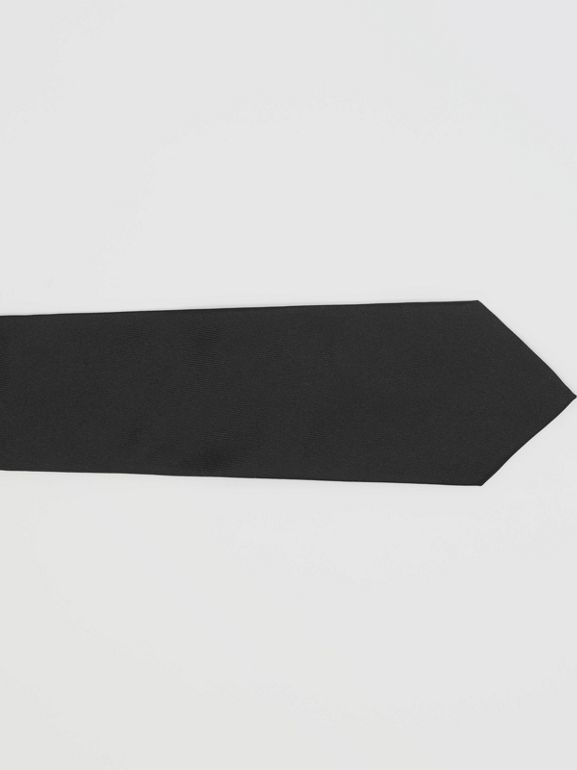 Classic Cut Silk Tie in Black - Men | Burberry United Kingdom - cell image 1