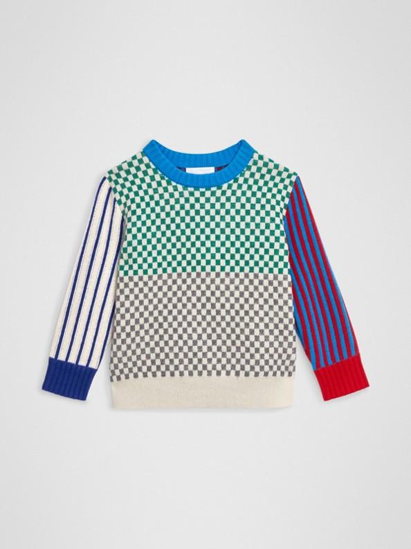 Pullover in cashmere con motivi lavorati in jacquard (Multicolore)